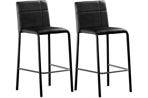 Lot de 2 Tabourets de bar PETRA