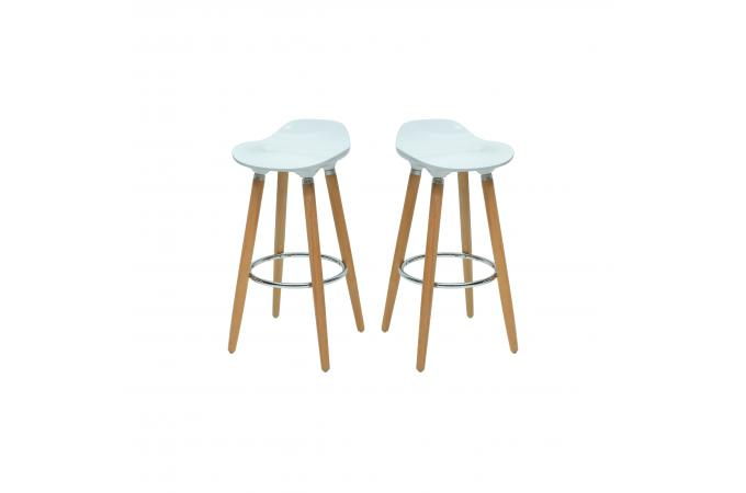 lot de 2 tabourets de bar scandinave blanc oaky tabouret de bar pas cher. Black Bedroom Furniture Sets. Home Design Ideas