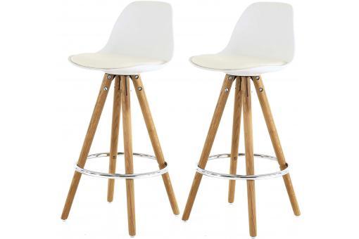 lot de 2 tabourets de bar scandinave blanc terri tabouret de bar pas cher. Black Bedroom Furniture Sets. Home Design Ideas