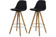 Lot de 2 Tabourets de Bar Scandinaves Noir UMA - Tabouret de bar noir design