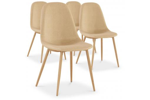 Lot de 4 chaises beiges HAMAR