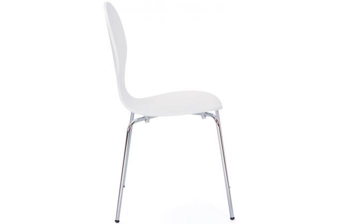 Lot de 4 chaises blanches romane chaise design pas cher - Lot 4 chaises blanches ...