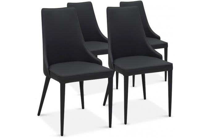 Lot de 4 chaises design noir pagan chaise design pas cher - Lot de 4 chaises design ...