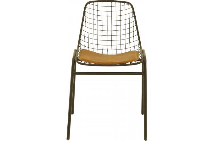 lot de 4 chaises noires en m tal elmass chaise design pas cher. Black Bedroom Furniture Sets. Home Design Ideas