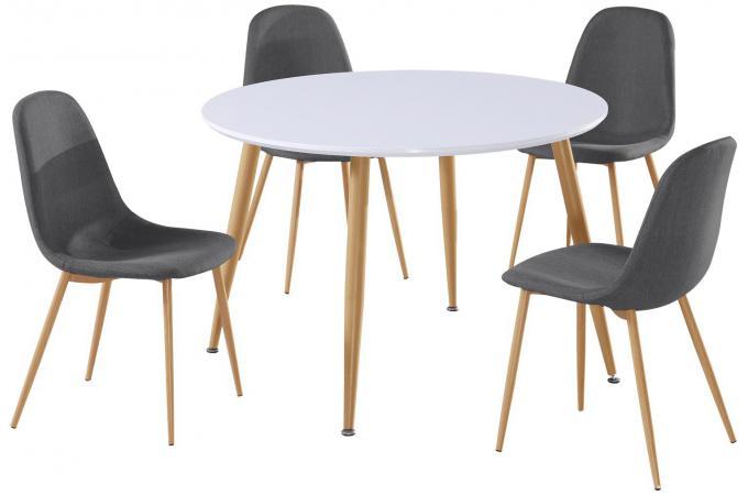 Lot de 4 chaises grises hamar chaise design pas cher for Lot de 4 chaises grises