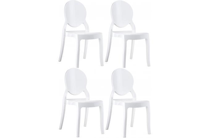 lot de 4 chaises elizabeth blanc chaise design pas cher. Black Bedroom Furniture Sets. Home Design Ideas