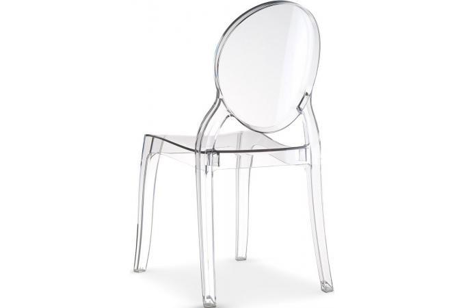 Lot de 4 chaises elizabeth transparent baroque chaise design pas cher - Chaise baroque transparente ...