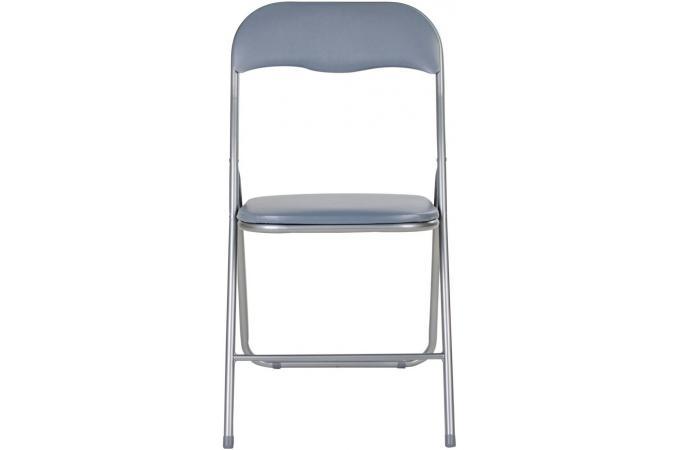 Surréaliste Lot de 4 chaises pliantes grises metal CARLOS - Chaise Pliante Pas NZ-36