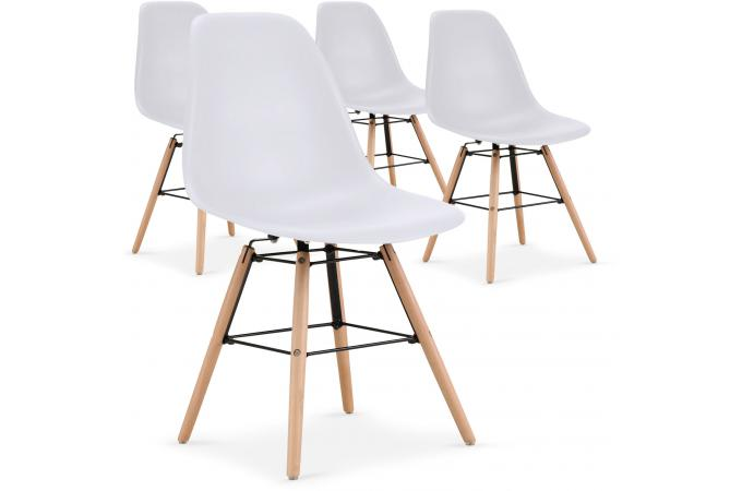 lot de 4 chaises scandinaves blanches rosemarie chaise. Black Bedroom Furniture Sets. Home Design Ideas