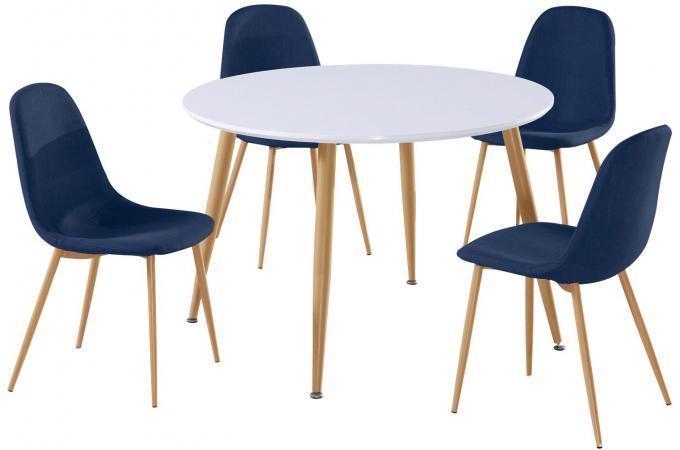 Lot De 4 Chaises Scandinaves Bleues HAMAR