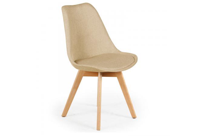 Lot de 4 chaises scandinaves en tissu beige wenda chaise for Chaise beige pas cher