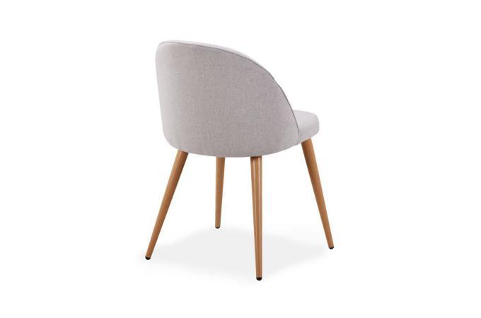 Lot De 4 Chaises Scandinaves En Tissu Gris Melchior Chaise Design