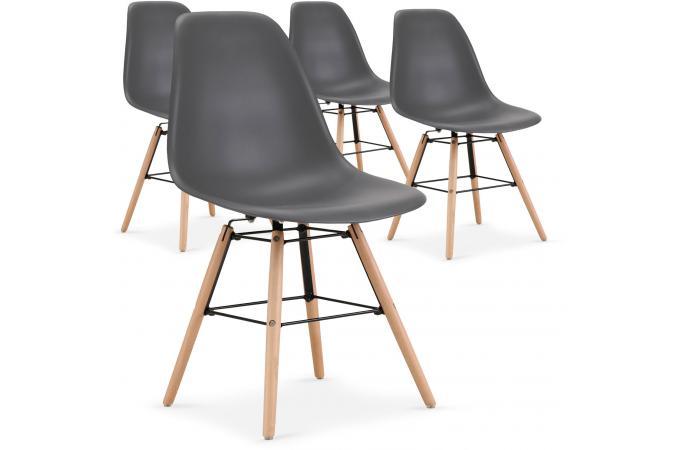 lot de 4 chaises scandinaves grises rosemarie - Chaises Scandinaves Couleur