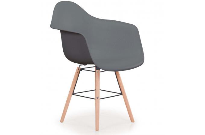 lot de 4 chaises scandinaves ralf gris fizz chaise design pas cher. Black Bedroom Furniture Sets. Home Design Ideas