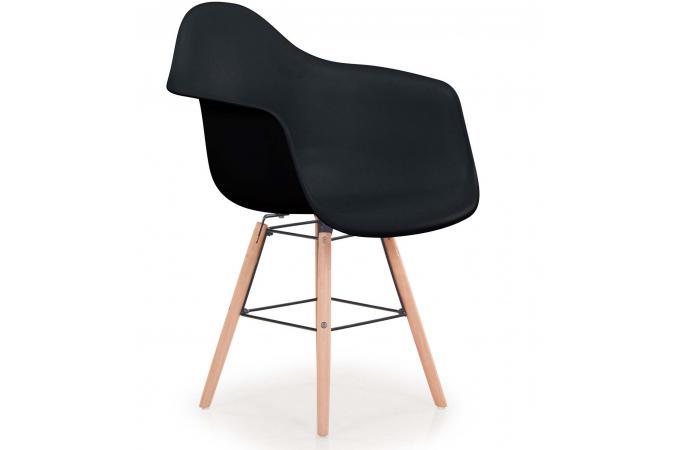 lot de 4 chaises scandinaves ralf noir fizz chaise. Black Bedroom Furniture Sets. Home Design Ideas