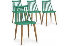 DeclikDeco - Lot de 4 Chaises Scandinaves Vertes GATOU - Chaise design et tabouret design