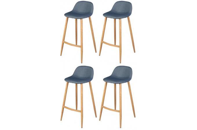 lot de 4 tabourets de bar scandinave bleu op tabouret de bar pas cher. Black Bedroom Furniture Sets. Home Design Ideas