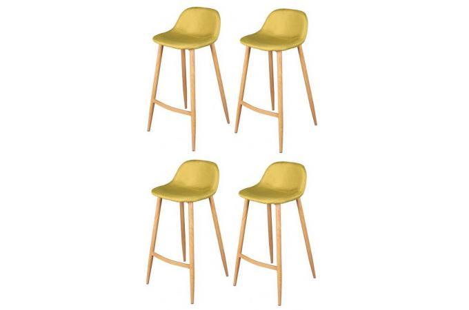 lot de 4 tabourets de bar scandinave vert anis op tabouret de bar pas cher. Black Bedroom Furniture Sets. Home Design Ideas