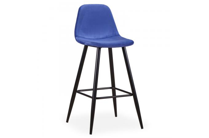 lot de 4 tabourets de bar tissu bleu kalmar tabouret de bar pas cher. Black Bedroom Furniture Sets. Home Design Ideas