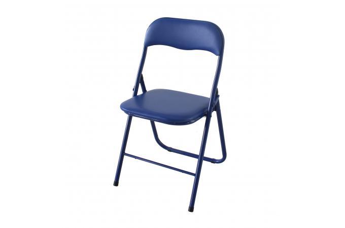 Extraordinaire Lot de 6 Chaises Pliantes Bleu CARLOS - Chaise Pliante Pas Cher UR-92