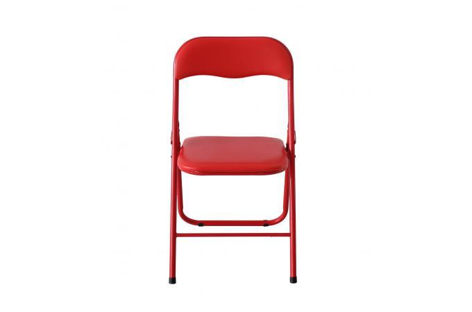 Super Lot de 6 Chaises Pliantes Rouge CARLOS - Chaise Pliante Pas Cher GX-65