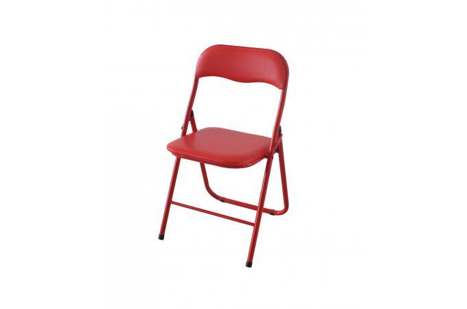 Audacieuse Lot de 6 Chaises Pliantes Rouge CARLOS - Chaise Pliante Pas Cher OS-27