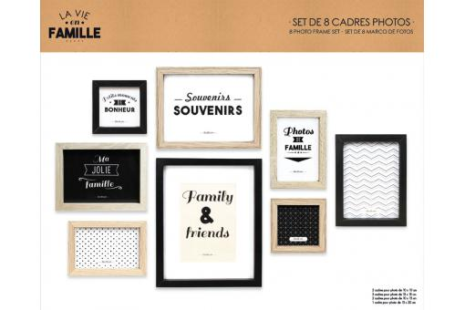 Lot De 8 Cadres Photos REFLET - Decoration murale design