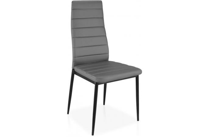 Lot de 8 chaises grises en m tal san jos chaise design for Lot de 8 chaises pas cher