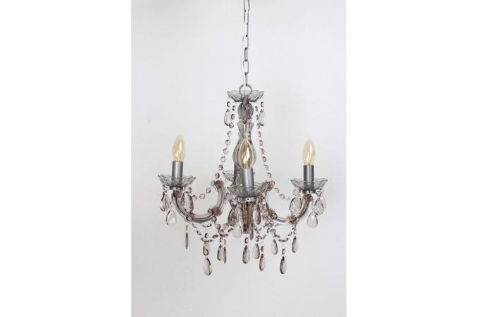 lustre baroque 4 branches noir shanelle lustre pas cher. Black Bedroom Furniture Sets. Home Design Ideas