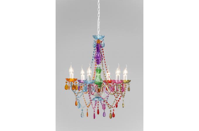 Lustre baroque multicolore 6 bras crystal lustres - Lustre pas cher cristal ...