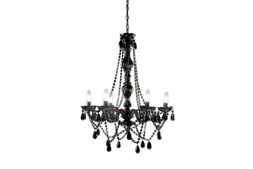 Lustre Baroque Noir 6 Bras Crystal - Lustre et suspension design