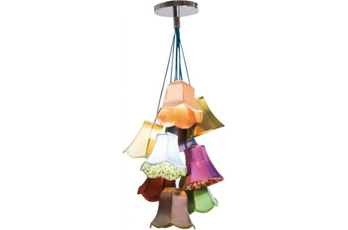 Lustre multicolore liberty saloon lustres suspensions for Lustre contemporain pas cher