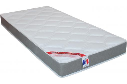 matelas en mousse m moire de forme 50 kg m3 gris cm. Black Bedroom Furniture Sets. Home Design Ideas
