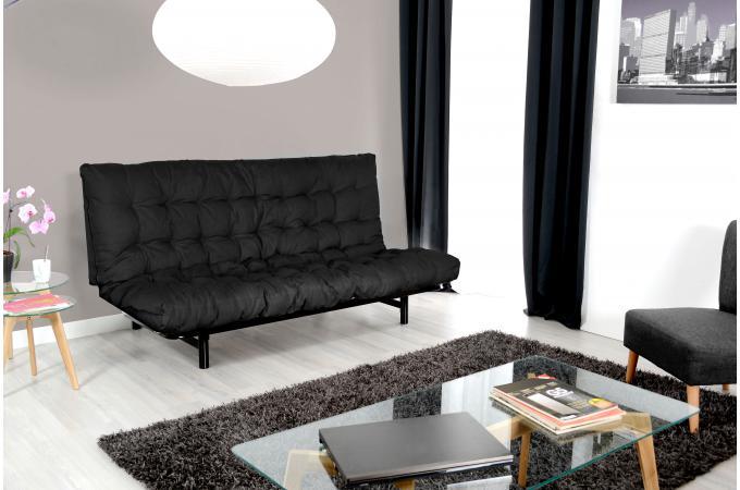 Matelas Futon Pour Clic Clac 135x190 Cm Noir Dos Enveloppant 100