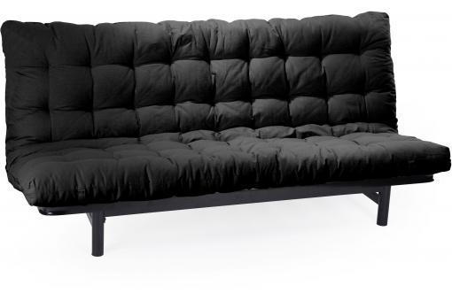 Matelas futon pour clic clac 135x190 cm noir dos enveloppant 100 coton minus - Changer matelas clic clac ...