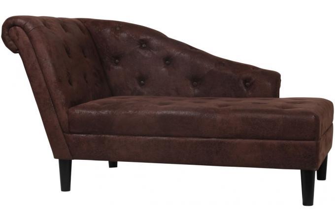 m ridienne capitonn e marron vintage fauteuil design pas cher. Black Bedroom Furniture Sets. Home Design Ideas