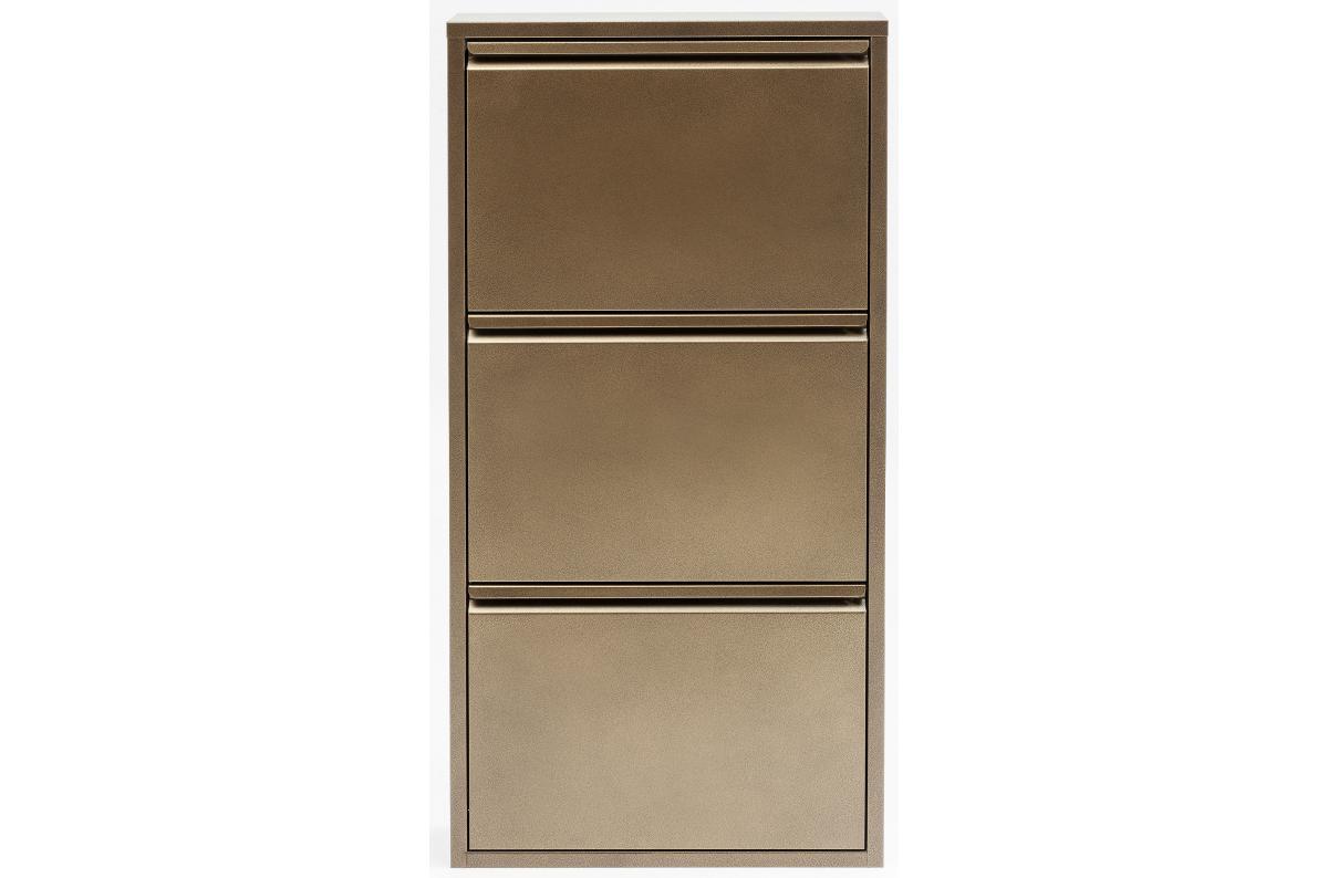 Meuble Dressing Pas Cher meuble à chaussures 3 abattants acier bronze caruso plus d'infos