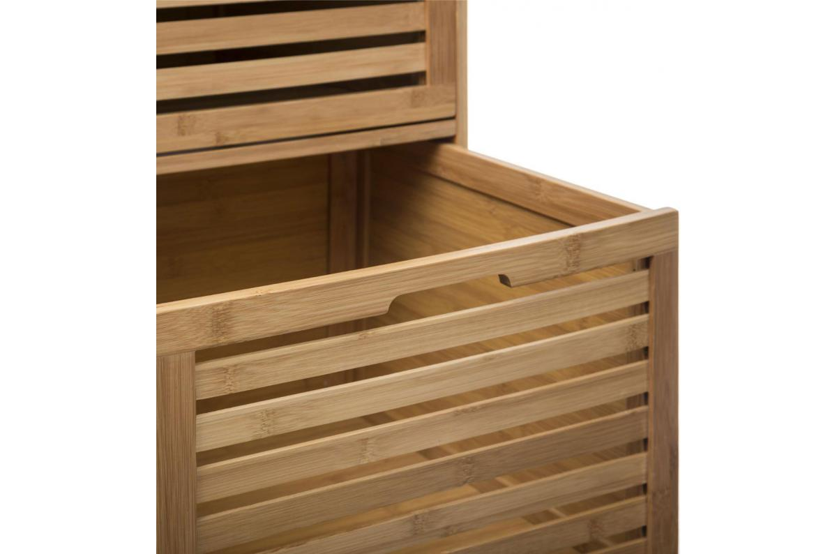 Meuble De Rangement De Salle De Bain meuble de rangement 3 tiroirs en bambou beige siccela plus d'infos