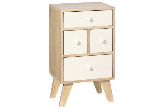 meuble de rangement scandinave 4 tiroirs saxnas meuble. Black Bedroom Furniture Sets. Home Design Ideas