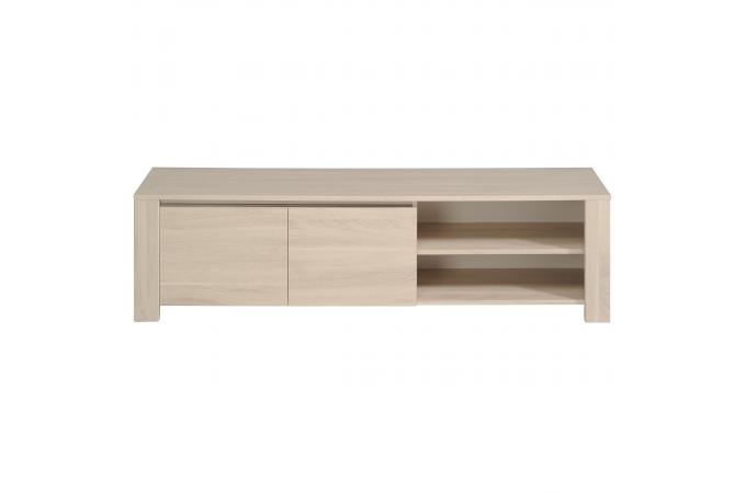 meuble tv 2 niches 2 portes ch ne beige brada meuble tv. Black Bedroom Furniture Sets. Home Design Ideas