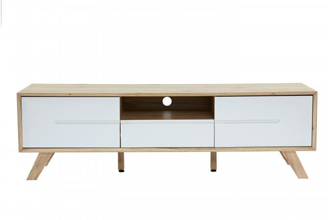meuble tv 2 portes 1 tiroir et 1 niche en pin massif nestor meubles en ligne. Black Bedroom Furniture Sets. Home Design Ideas