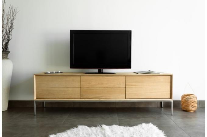 meuble tv 2 tiroirs 1 porte en ch ne massif copa meuble tv pas cher. Black Bedroom Furniture Sets. Home Design Ideas