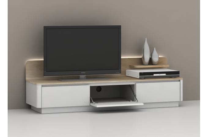 meuble tv 3 tiroirs avec led atlas meuble tv pas cher. Black Bedroom Furniture Sets. Home Design Ideas