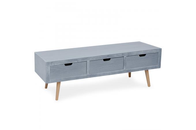 meuble tv gris et bois 3 tiroirs tata design 1531039 680x450 Résultat Supérieur 50 Élégant Meuble Tv Gris Et Bois Photos 2018 Ojr7