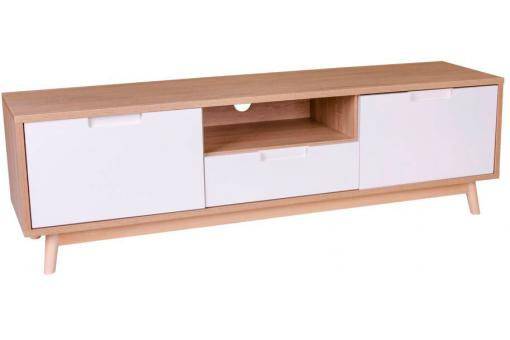 Meuble TV Scandinave Blanc OLI - Meuble tv design