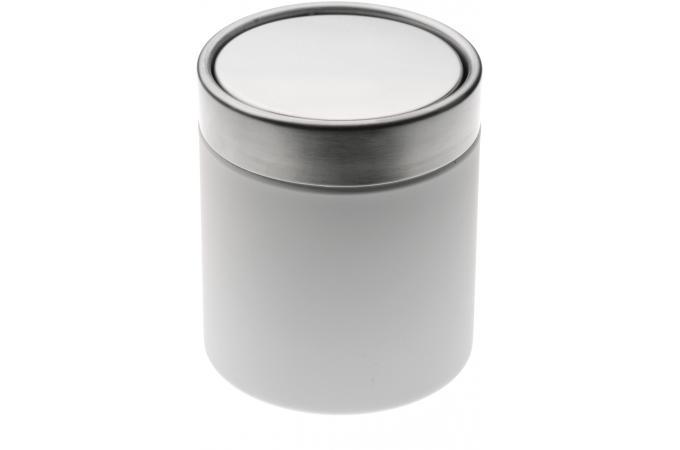 Mini poubelle de salle de bain blanche 1 25l nick - Mini poubelle salle de bain ...