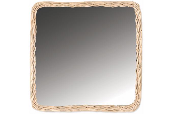 miroir carr en rotin beige balta miroir carr pas cher. Black Bedroom Furniture Sets. Home Design Ideas