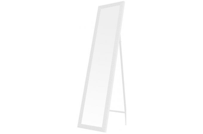 miroir de pied argyle blanc 37 x 2 x 157 cm miroir rectangulaire pas cher. Black Bedroom Furniture Sets. Home Design Ideas