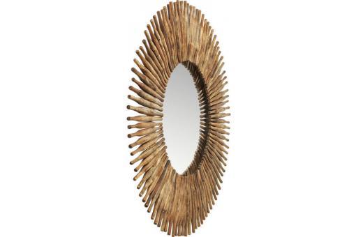 miroir soleil kare design bois d120 sunny miroir rond et. Black Bedroom Furniture Sets. Home Design Ideas