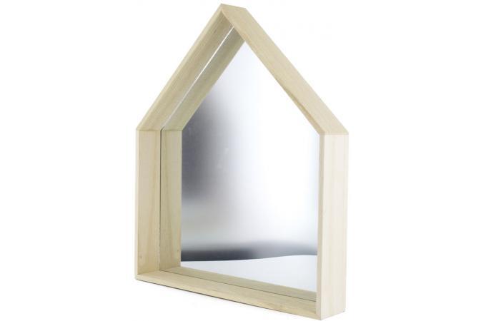 miroir mural maison bois hale miroir rectangulaire pas cher. Black Bedroom Furniture Sets. Home Design Ideas